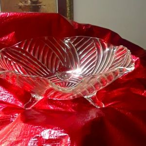 Footed Glass designed serving bowl